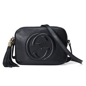 Gucci Soho Disco Black Crossbody Shoulder Handbag